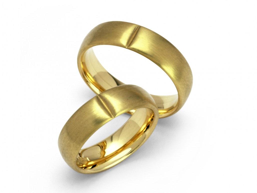 Moderne eenvoudige trouwringen